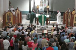 COMMUNION. Click the image above for pictures of our farewell mass together.